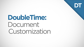 DoubleTime Document Customization Video Thumbnail